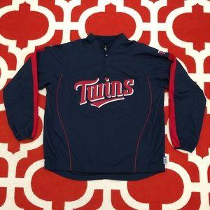 MLB Minnesota Twins Majestic Pullover jacket XL